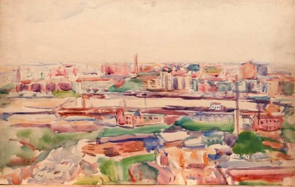 ЛЕНТУЛОВ  А.В. Эскиз города. 1930-е