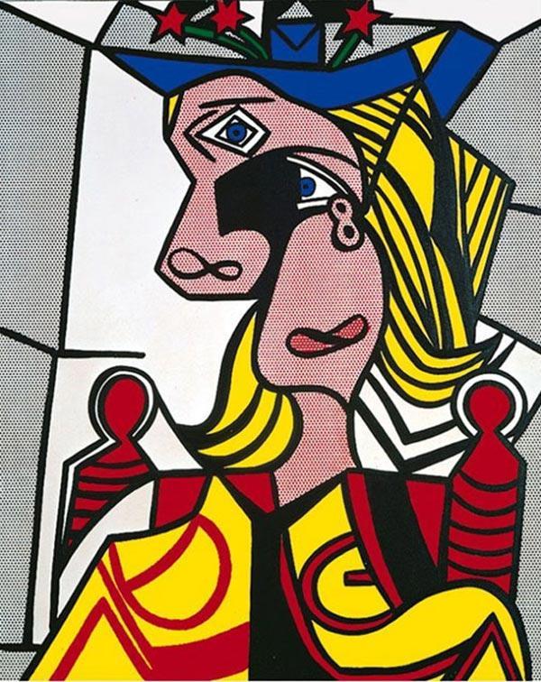 РОЙ ЛИХТЕНШТЕЙН  Женщина в шляпе с цветами. 1963