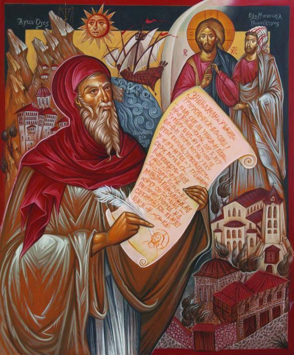 ДЕЯН МАНДЕЛЦ Дионисий из Фурны, пишущий сборник наставлений по иконописи. 2012