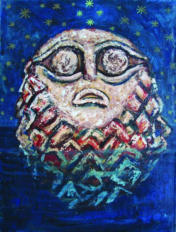 ИСИДОРА ИВАНОВИЧ Бог реки. Из цикла «Винчанская культура». 2013