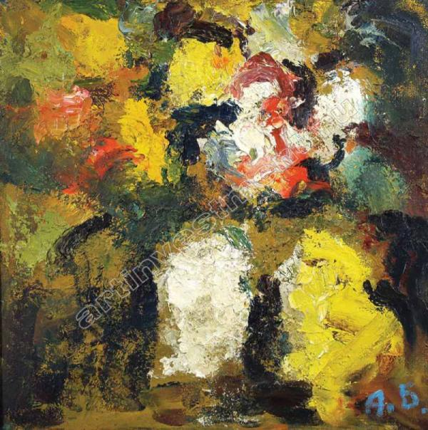 АРОН БУХ Цветы в белой вазе. 2001