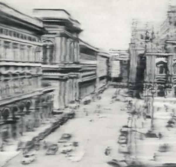 ГЕРХАРД РИХТЕР Domplatz, Mailand (Соборная площадь, Милан). 1968