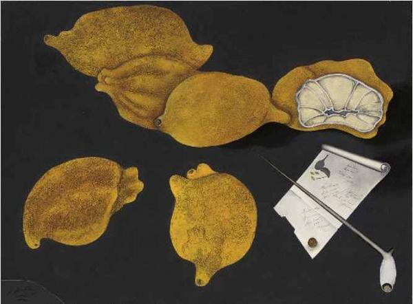 МИХАИЛ ШЕМЯКИН Натюрморт с лимонами. 1981