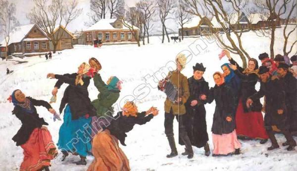 К.Ф.ЮОН Танец работников спичечной фабрики, Лигачево [Танец свах]. 1912