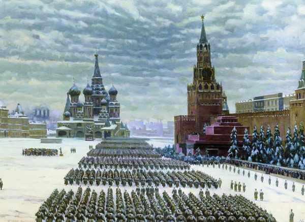 К.Ф.ЮОН Парад на Красной площади 7 ноября 1941 года. 1949