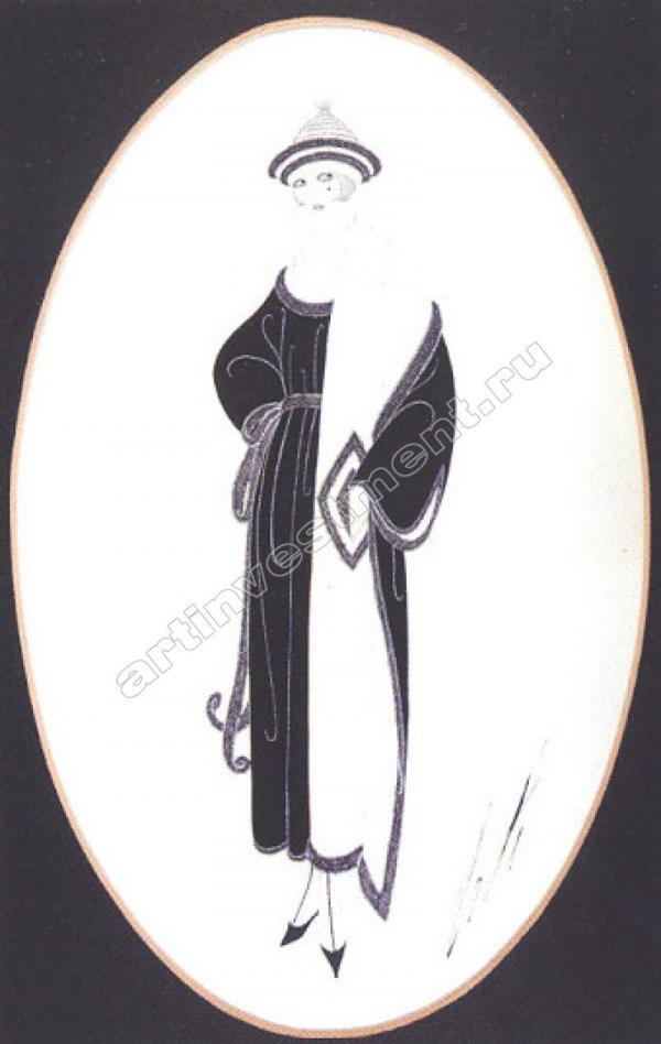 ЭРТЕ Эскиз куртки для Harper's Bazaar. 1921