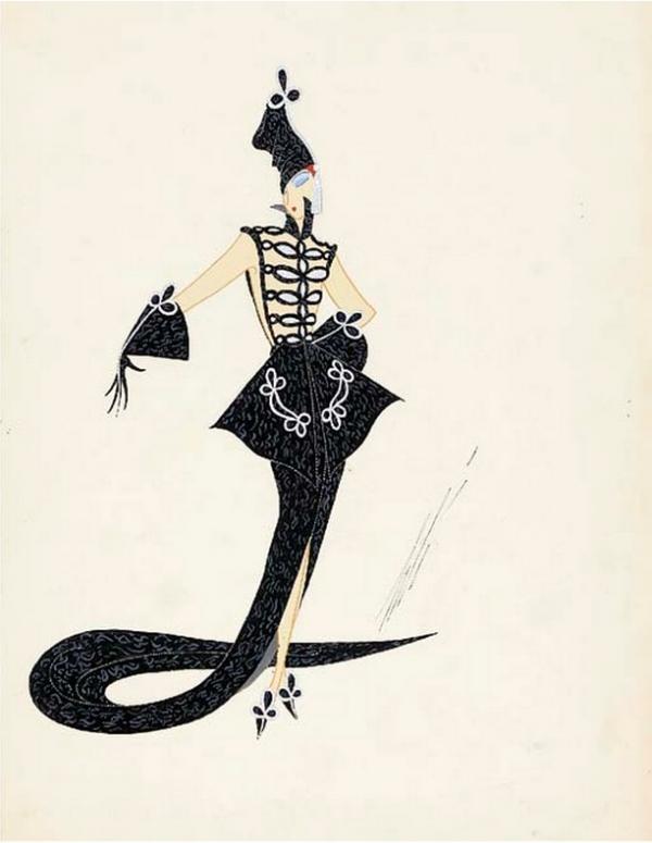ЭРТЕ Эскиз костюма к спектаклю «Лондонская симфония». Театр «Палладиум», Лондон. Ок. 1938