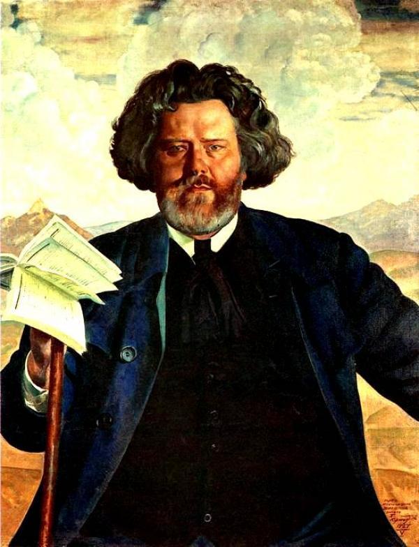БОРИС КУСТОДИЕВ Портрет Максимилиана Волошина. 1924
