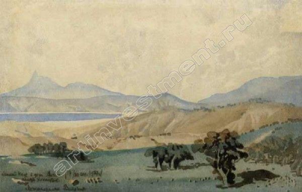 МАКСИМИЛИАН ВОЛОШИН Коктебель. Пейзаж. 1927