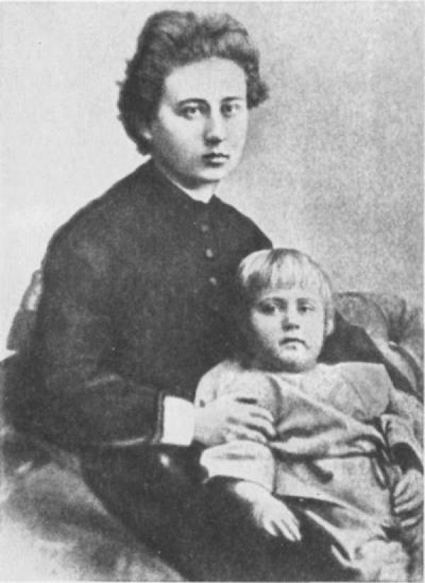 Елена Оттобальдовна Кириенко-Волошина с Максом. 1878