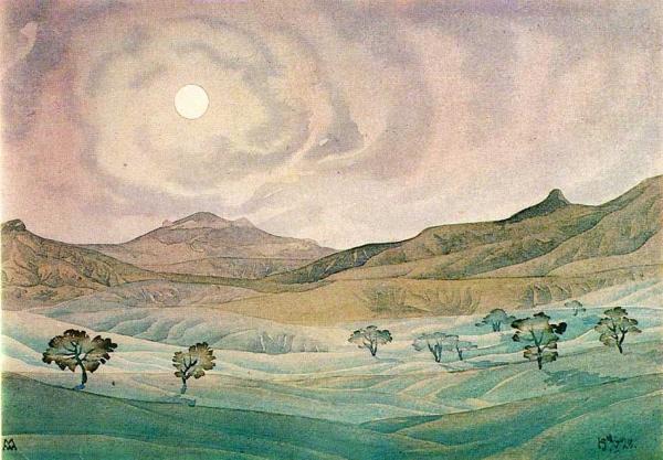 МАКСИМИЛИАН ВОЛОШИН Ореолы облаков. 1928
