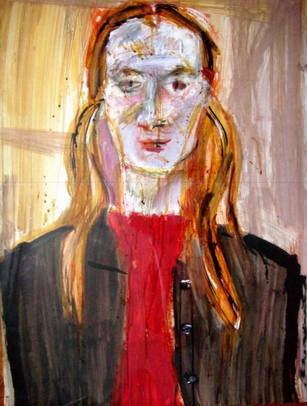 ВАЛЕНТИН ВОРОБЬЕВ Портрет Аси Лапидус. 1972