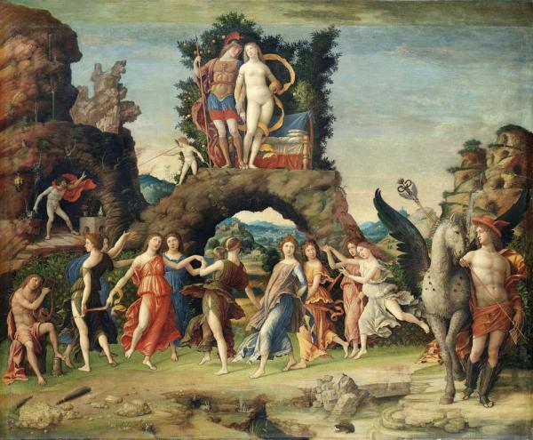 АНДРЕА МАНТЕНЬЯ Парнас (Марс и Венера). 1497