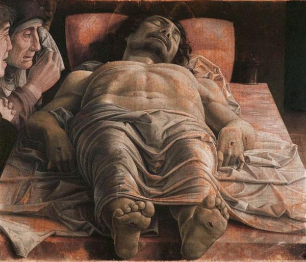 АНДРЕА МАНТЕНЬЯ Мертвый Христос. Ок. 1480