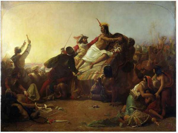 ДЖОН ЭВЕРЕТТ МИЛЛЕС Писарро берет в плен в плен перуанских инков. 1846