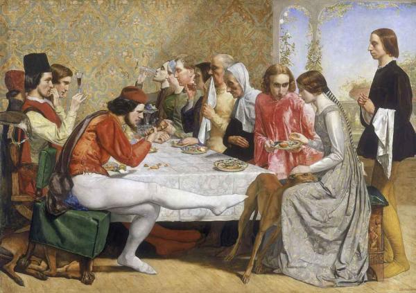 ДЖОН ЭВЕРЕТТ МИЛЛЕС Изабелла (Лоренцо и Изабелла). 1849