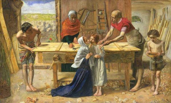 ДЖОН ЭВЕРЕТТ МИЛЛЕС Христос в доме родителей (Плотницкая мастерская). 1849–1850