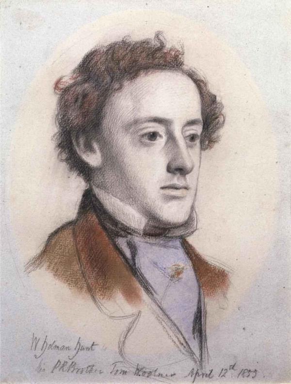 УИЛЬЯМ ХОЛМАН ХАНТ Портрет Джона Эверетта Миллеса. 1853