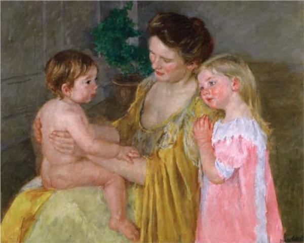МЭРИ КАССАТ Мать с двумя детьми. 1906