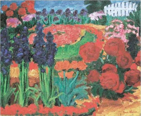 ЭМИЛЬ НОЛЬДЕ Цветущий сад. 1922