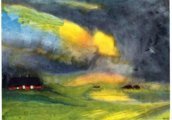 ЭМИЛЬ НОЛЬДЕ Разноцветное небо над болотом. 1940
