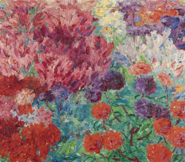 ЭМИЛЬ НОЛЬДЕ Цветочный сад. 1908