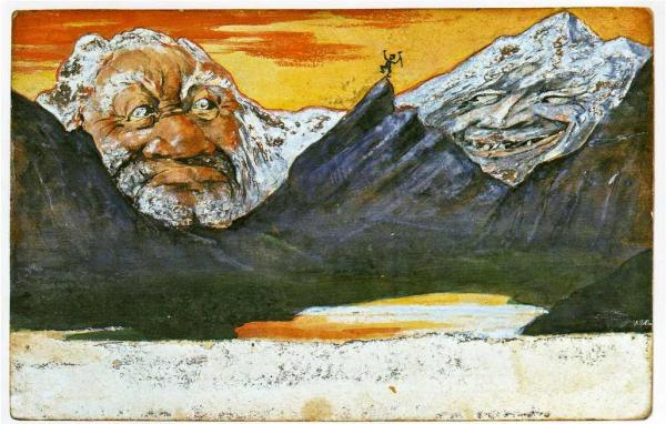 ЭМИЛЬ ХАНСЕН (НОЛЬДЕ) Почтовая открытка из серии «Волшебные горы»