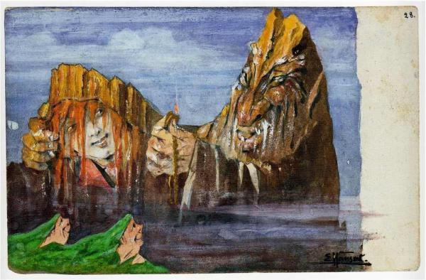 ЭМИЛЬ ХАНСЕН (НОЛЬДЕ) Почтовая открытка № 28 из серии «Волшебные горы»