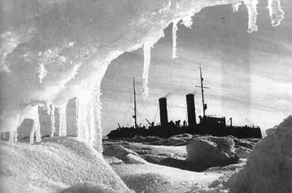 ДМИТРИЙ ДЕБАБОВ Ледокол «Красин» во льдах Арктики. 1936