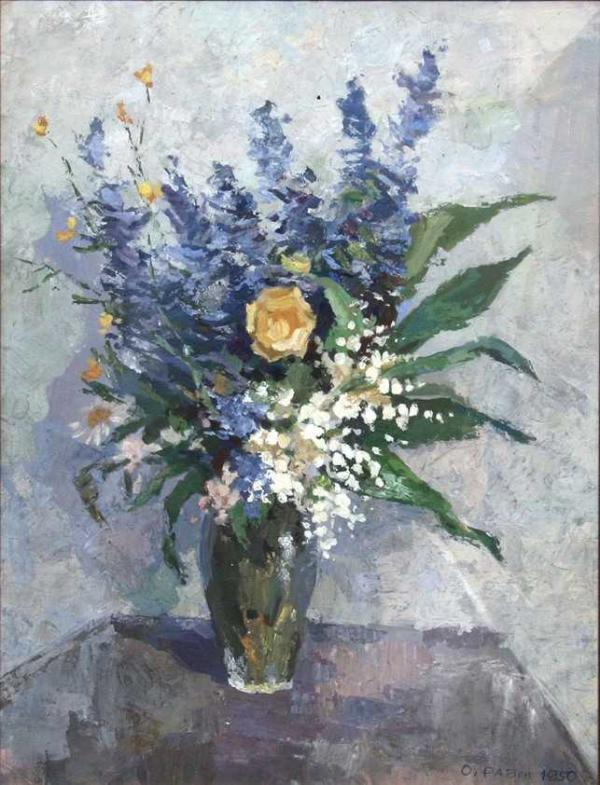 ОСКАР РАБИН Букет цветов, 1958