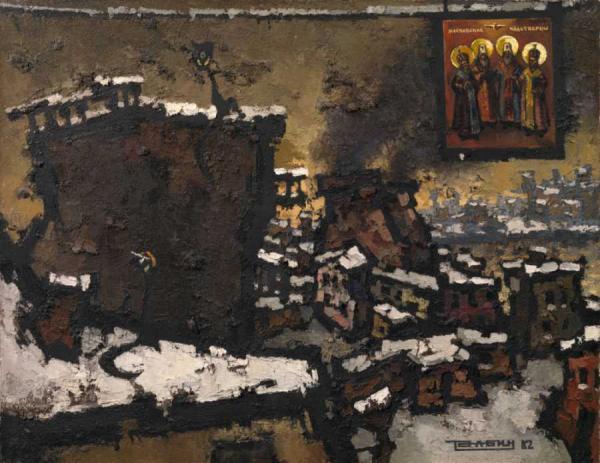 ОСКАР РАБИН Кафе поэта Сапгира.  1962