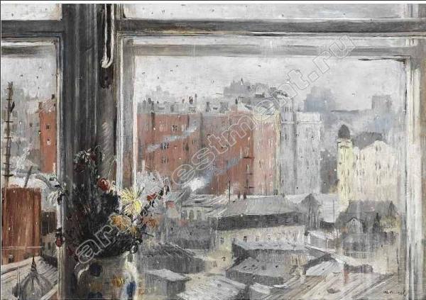 ЮРИЙ ПИМЕНОВ Вид из окна, Москва. 1954
