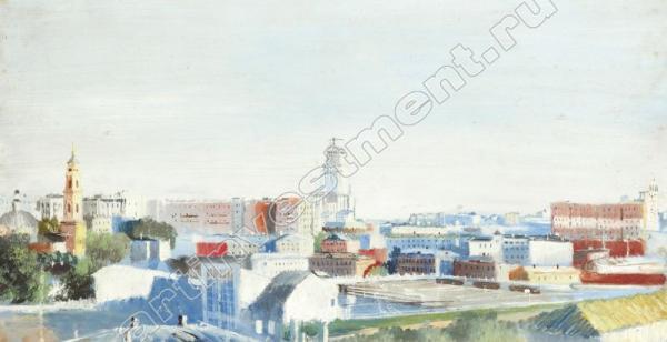 ЮРИЙ ПИМЕНОВ Городской пейзаж. 1930