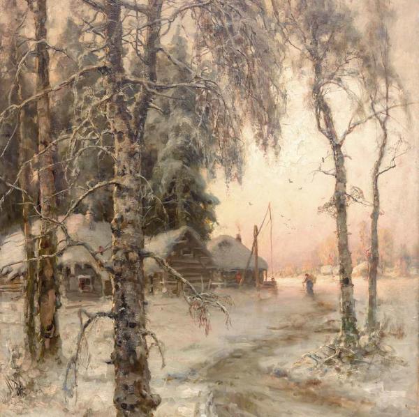 КЛЕВЕР Ю. Ю. Зимний пейзаж. 1914