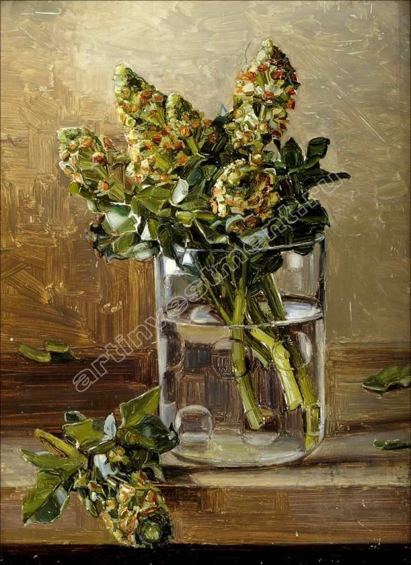 КЛЕВЕР М. Ю. Сирень в вазе. 1908