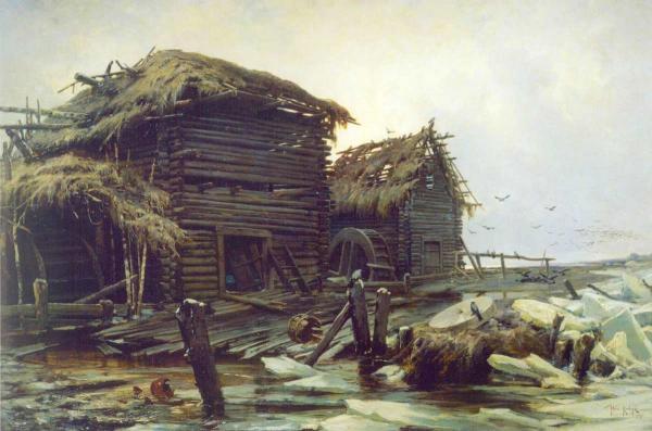 КЛЕВЕР Ю.Ю.Заброшенная мельница. 1890