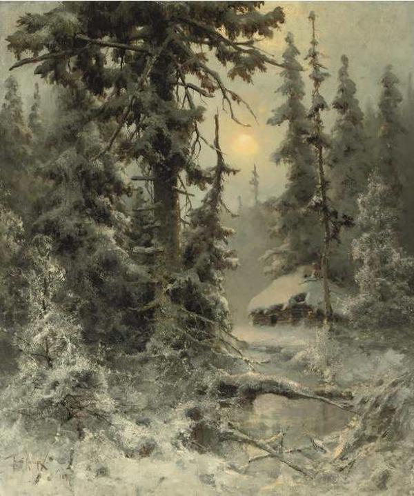 КЛЕВЕР Ю. Ю. После снегопада. 1897
