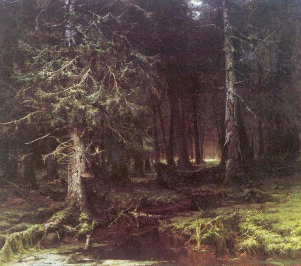 КЛЕВЕР Ю. Ю. Девственный лес. 1880