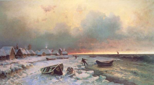 КЛЕВЕР Ю. Ю. Деревня на острове Нарген. 1881