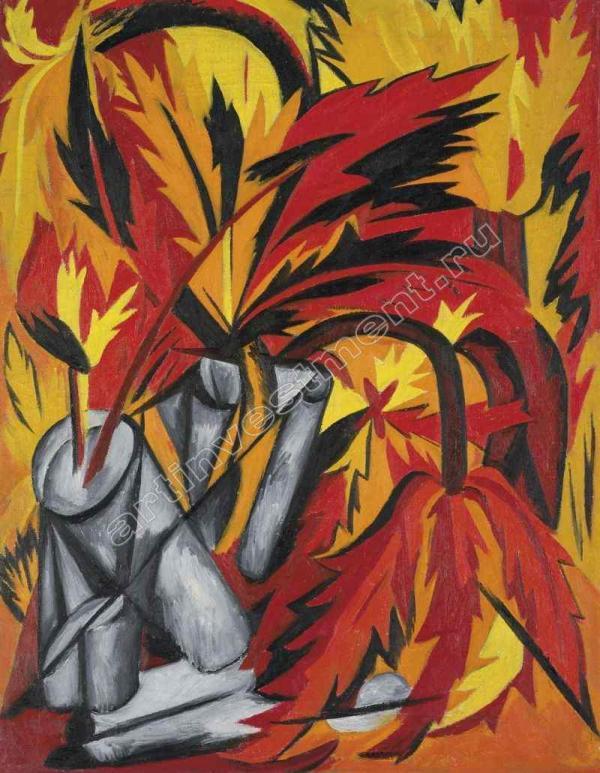 ГОНЧАРОВА НАТАЛИЯ СЕРГЕЕВНА (1881–1962) Цветы. Ок. 1912