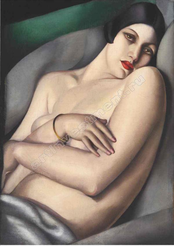 ТАМАРА ДЕ ЛЕМПИЦКА (1898–1980) Мечта (Рафаэла на зеленом фоне). 1927