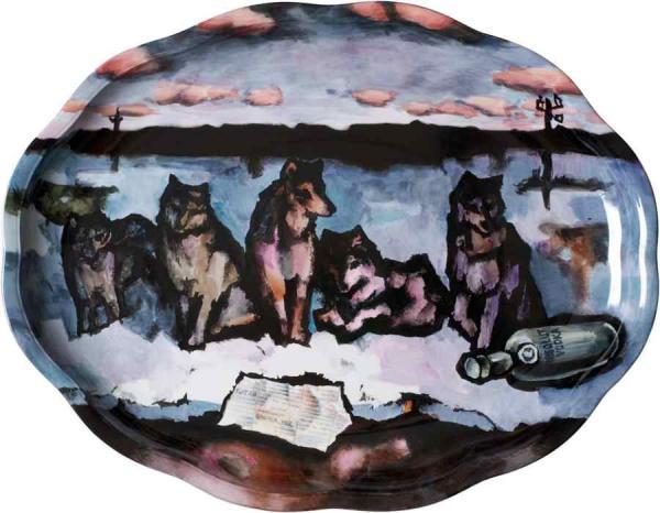 Оскар РАБИН. Тарелка «Волки». 2008