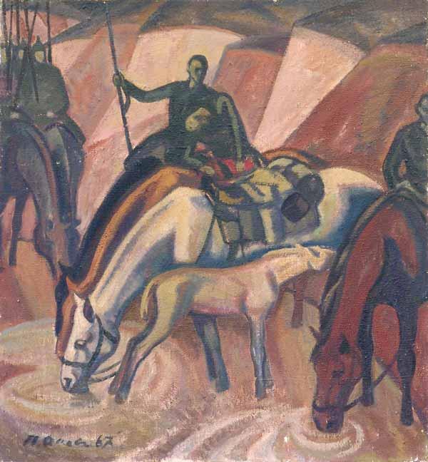 П. П. ОССОВСКИЙ После боя. 1967