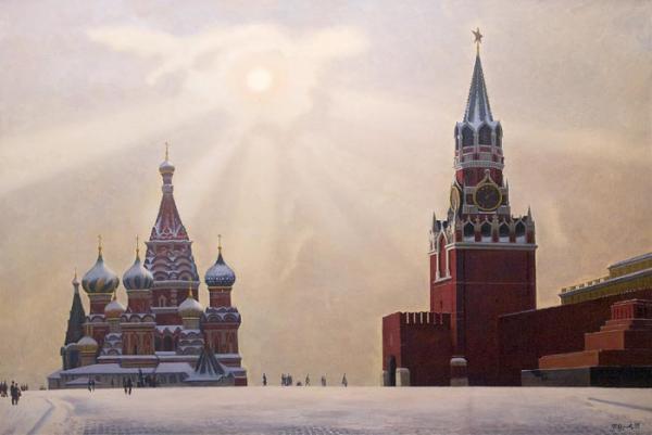 П. П. ОССОВСКИЙ Солнце над Красной площадью. 1995