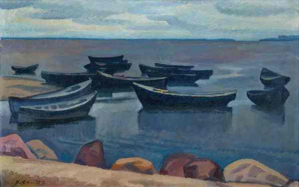 П. П. ОССОВСКИЙ Черные лодки. Из цикла «На земле древнего Пскова». 1973