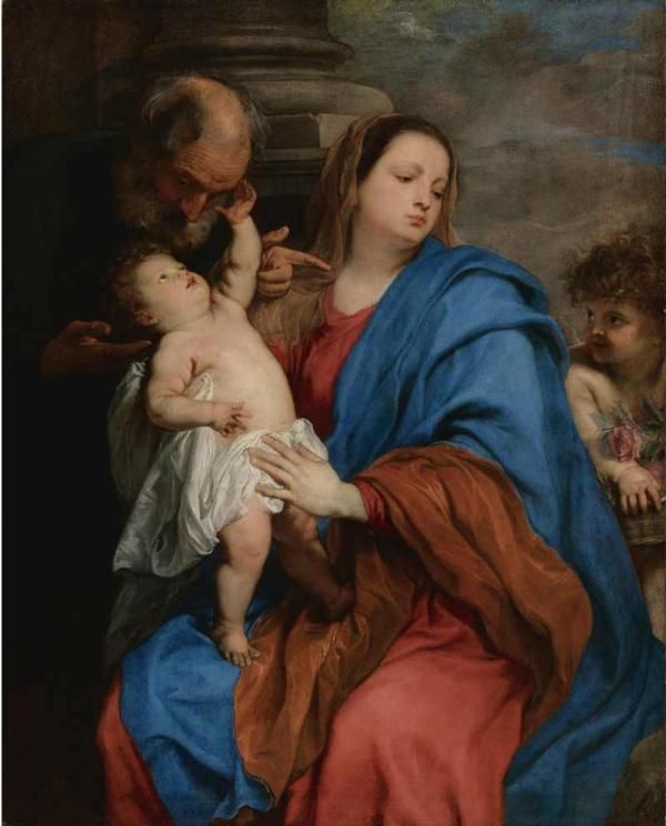 Антонис ван ДЕЙК Святое семейство с ангелом (Отдых на пути в Египет)