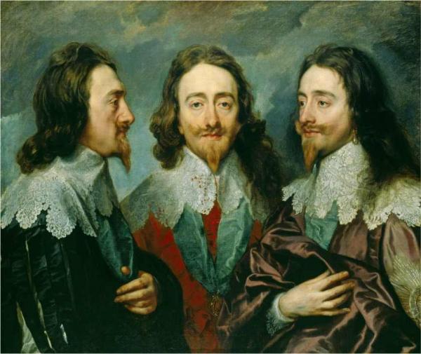 Антонис ван ДЕЙК Тройной портрет Карла I. 1635