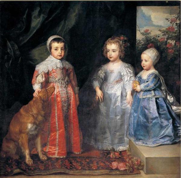 Антонис ван ДЕЙК Портрет трех старших детей Карла I. 1635