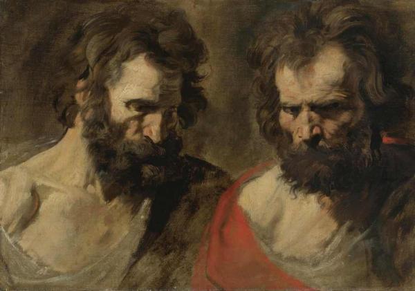 Антонис ван ДЕЙК Два этюда мужчины с бородой