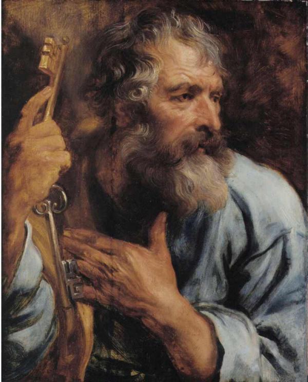 Антонис ван ДЕЙК Погрудное изображение апостола Петра